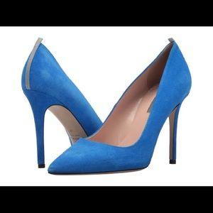 "SJP Blue suede ""Fawn"" heels"